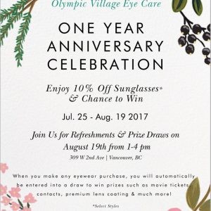 Join Us For Our One Year Anniversary Celebration